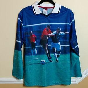 Vintage Tommy Hilfiger Soccer Polo size Large